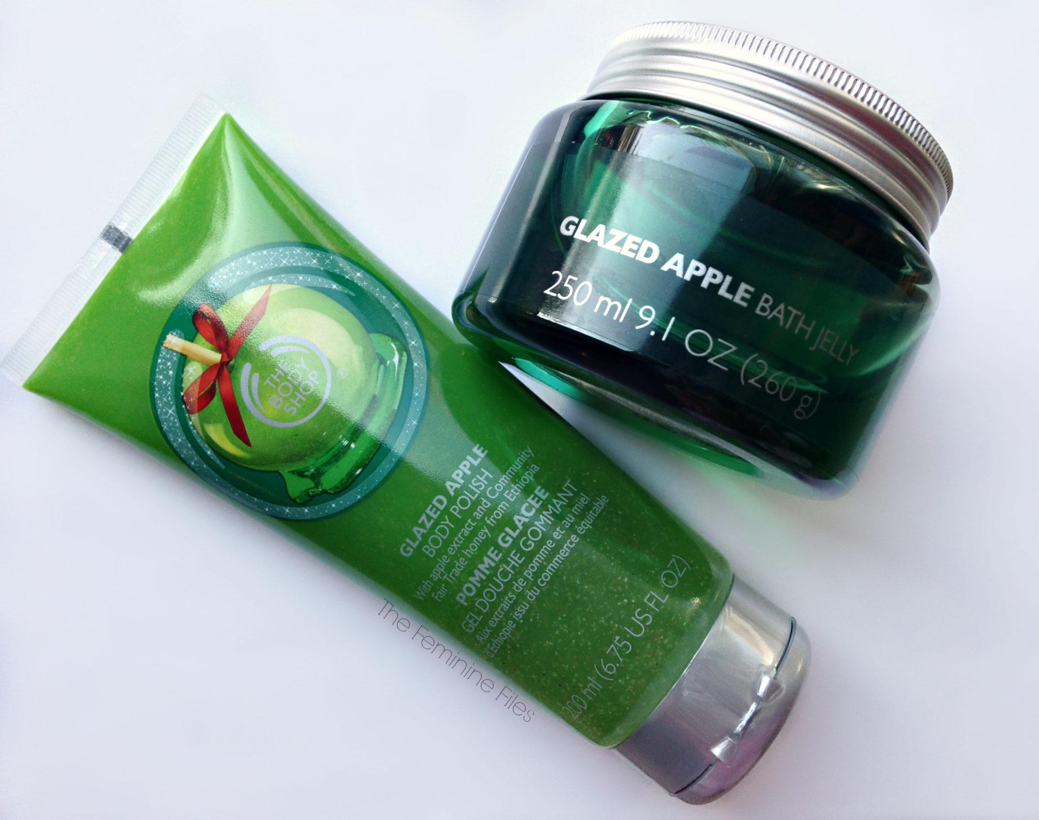 The Body Shop S Glazed Apple Body Polish Amp Bath Jelly The Feminine Files