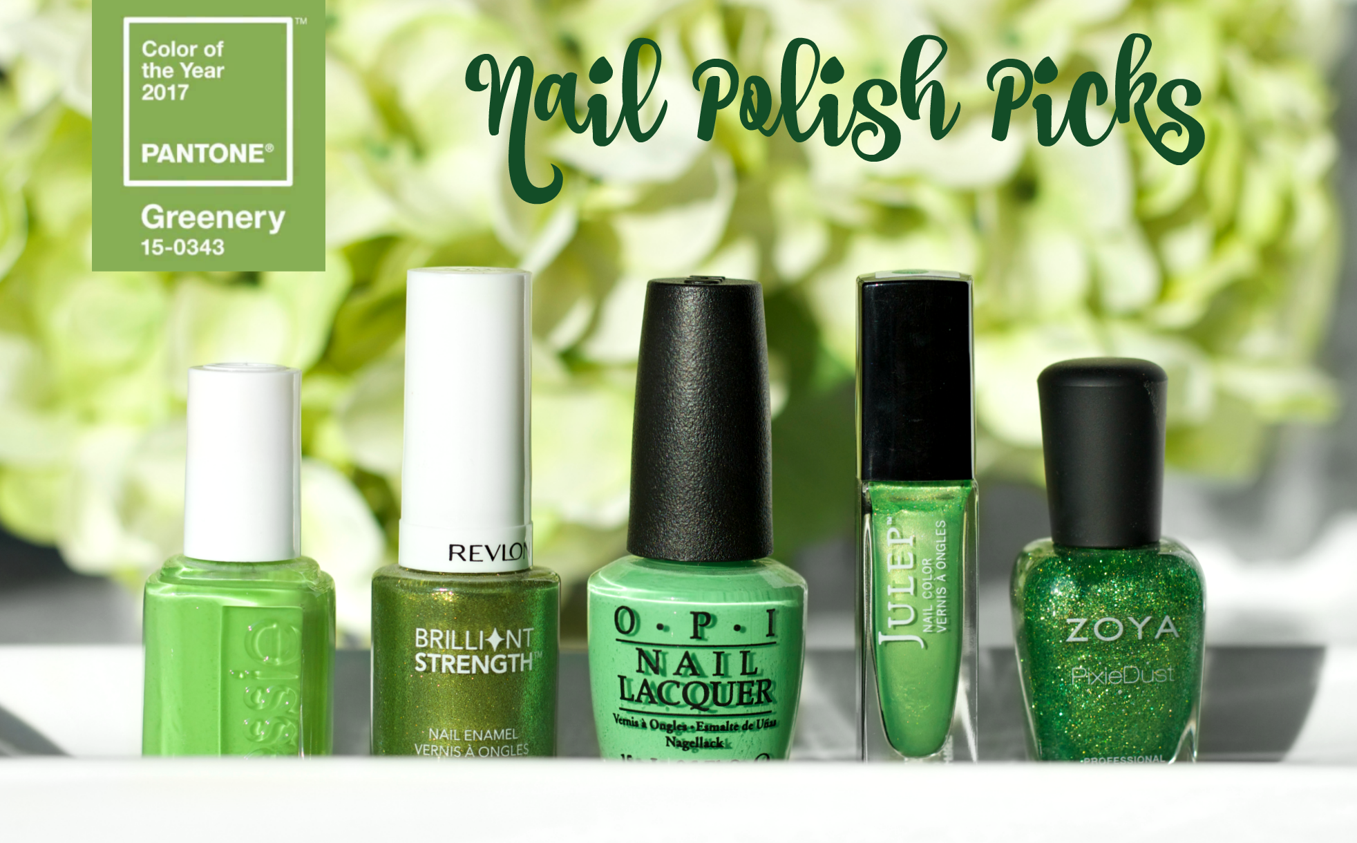 pantone 2017 greenery nail polish picks   the feminine files